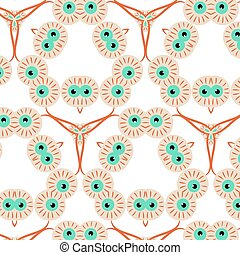 Abstract seamless pattern with eyes for Halloween