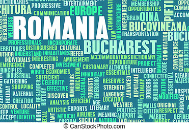 Romania as a Country Abstract Art Concept