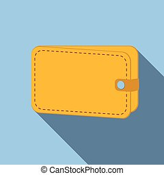 Wallet colored flat icon