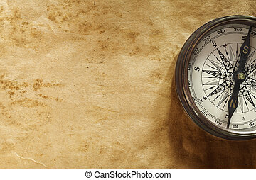 background with compass - vintage paper texture for text or...