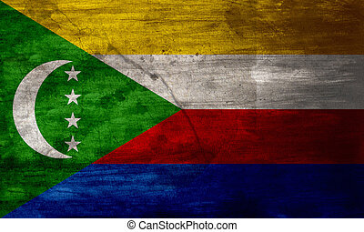 Grunge flag of Comoros - The current flag of the Union of...