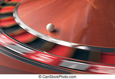 Casino Roulette - Playing roulette in the casino. Motion...