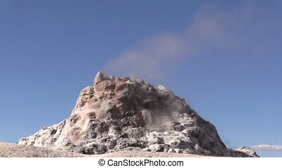 Great Fountain Geyser - the scenic great fountain geyser in...