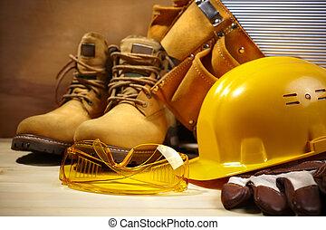segurança, construção