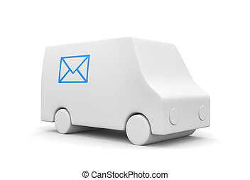 Postal service  - Communication concept. Isolated on white