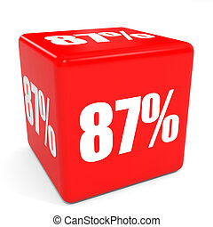 3D red sale cube 87 percent discount Illustration