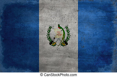 Grunge flag of Guatemala - The flag of Guatemala features...