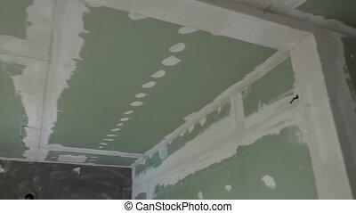 Finishing walls,repair residential premises