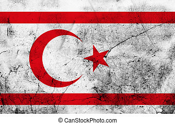 Grunge flag of Northern Cyprus - The flag of the Turkish...