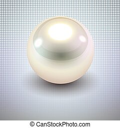 Background with white pearl