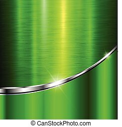 Background green metal texture,