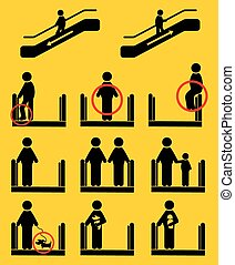 Escalator icons