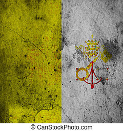 Grunge flag of Vatican City - The flag of Vatican City was...