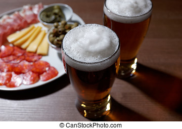 Beer and antipasto