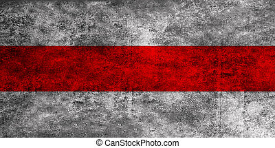 Grunge Nation flag of Belarus - Former flag in use in 1918,...
