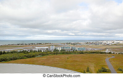 Reykjavik - panoramic view of Reykjavik, the capital of...