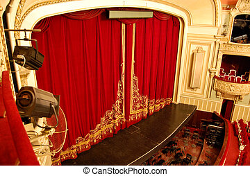 オペラ, 家, 内部,  -, ステージ