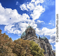 Berlin Cathedral - Cathedral in Berlin, Germany Against the...