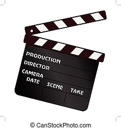 movie clapper - vector illustration of movie clapper, cinema...
