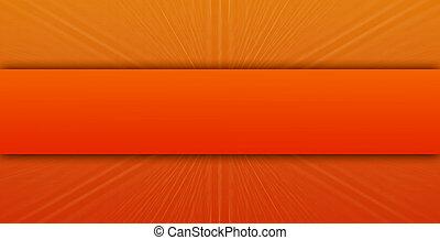 Bright orange background with blur