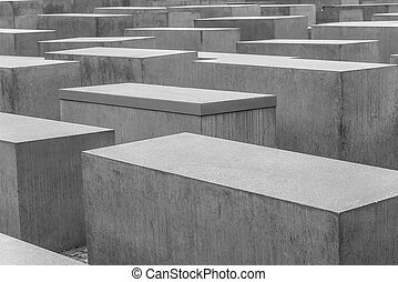 Holocaust - Mahnmal in Berlin. Monument to victims of...