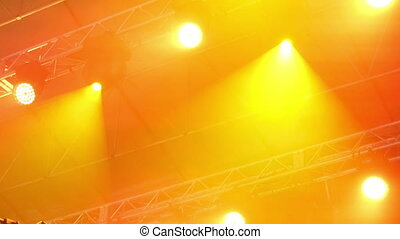 Light Equipment On The Stage - Light equipment with...