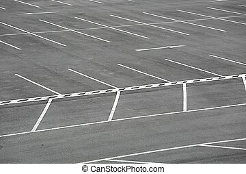 Carpark - Empty places in a parking lot