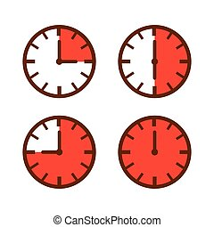 Watch Time Laps Simple Icon - Set of simple watch icon in...