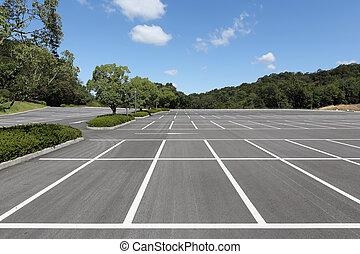 Empty car parking lot - Vacant parking lot, parking lane...