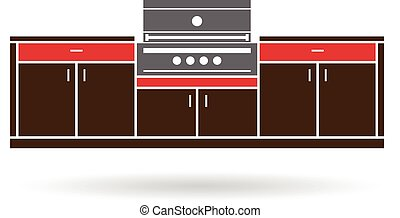 Summer Kitchen with grill color design
