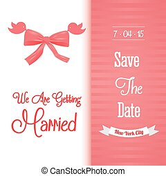 Save the date colorful card