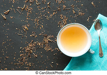 Green tea bancha - macrobiotic drink for natural food and...