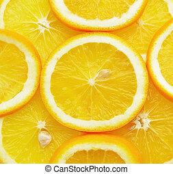 saudável, fundo, alimento, laranja