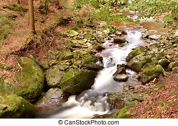 the river Ilse at Ilsenburg in the Harz National Park in...