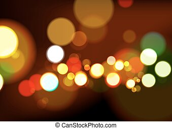 Abstract Christmas Lights Background, Vector Illustration