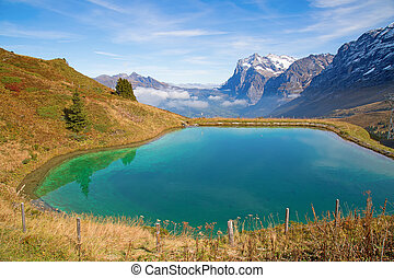 Jungfrau region - Autumn landscape in the Jungfrau region