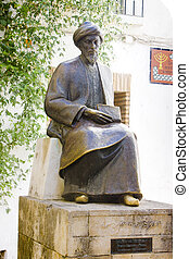 statue in Jewish Quarter, Cordoba, Andalusia, Spain