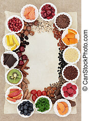 Superfood Border - Superfood collection background border in...