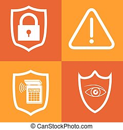 Security system design - Security system concept with...
