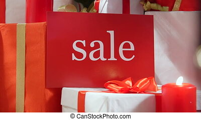 Christmas retail sale sign