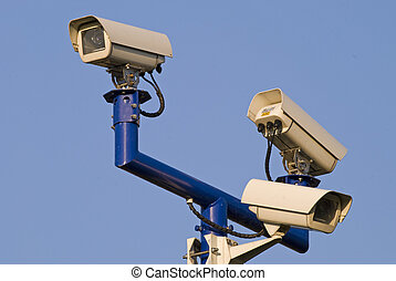 Video surveilance cameras - Three video surveilance cameras...
