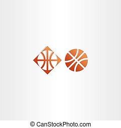 basketball icon vector logo sign