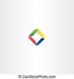 business abstract logo square colorful icon