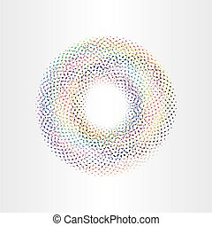 colorful background circle with squares rainbow vector...