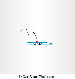 river fishing bobber logo vector