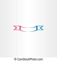 stylized red blue ribbon vector