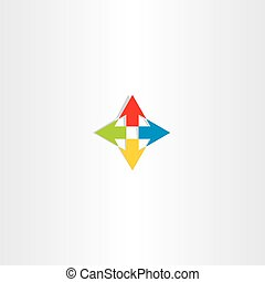 up down left right arrow icon sign logo