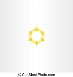 yellow star icon sun logo