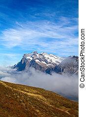 Jungfrau region - Wetterhorn mountain in the Jungfrau region
