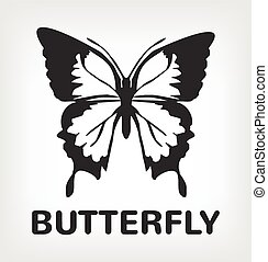 Butterfly silhouette vector black logo icon illustration